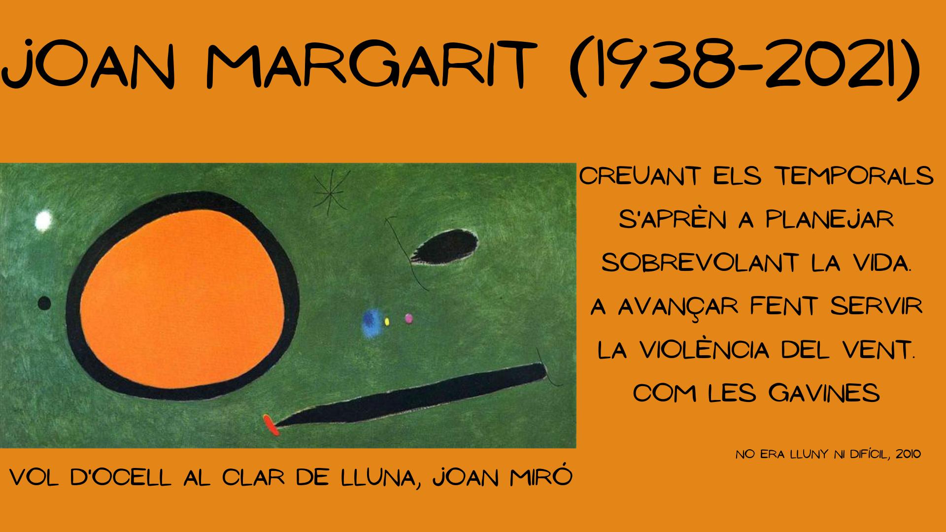 jOAN margarit (1938-2021)